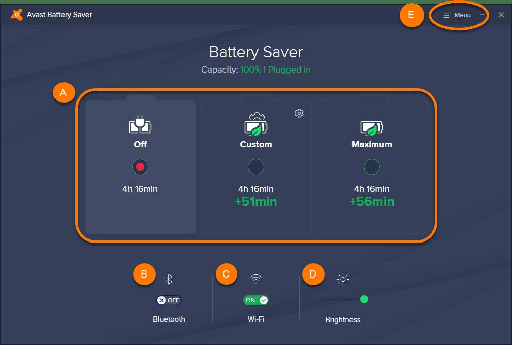 Полная версия Avast Battery Saver PRO